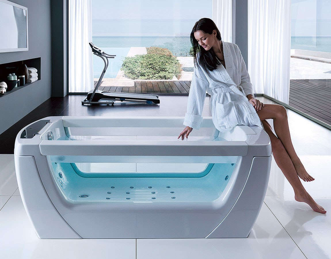 thermal bathtub with whirlpool vision treesse
