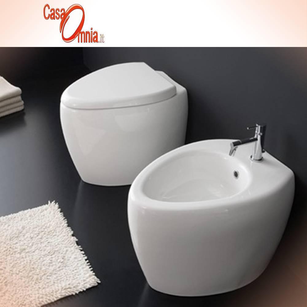 COUPLE FLOOR WC AND BIDET - SCARABEO \