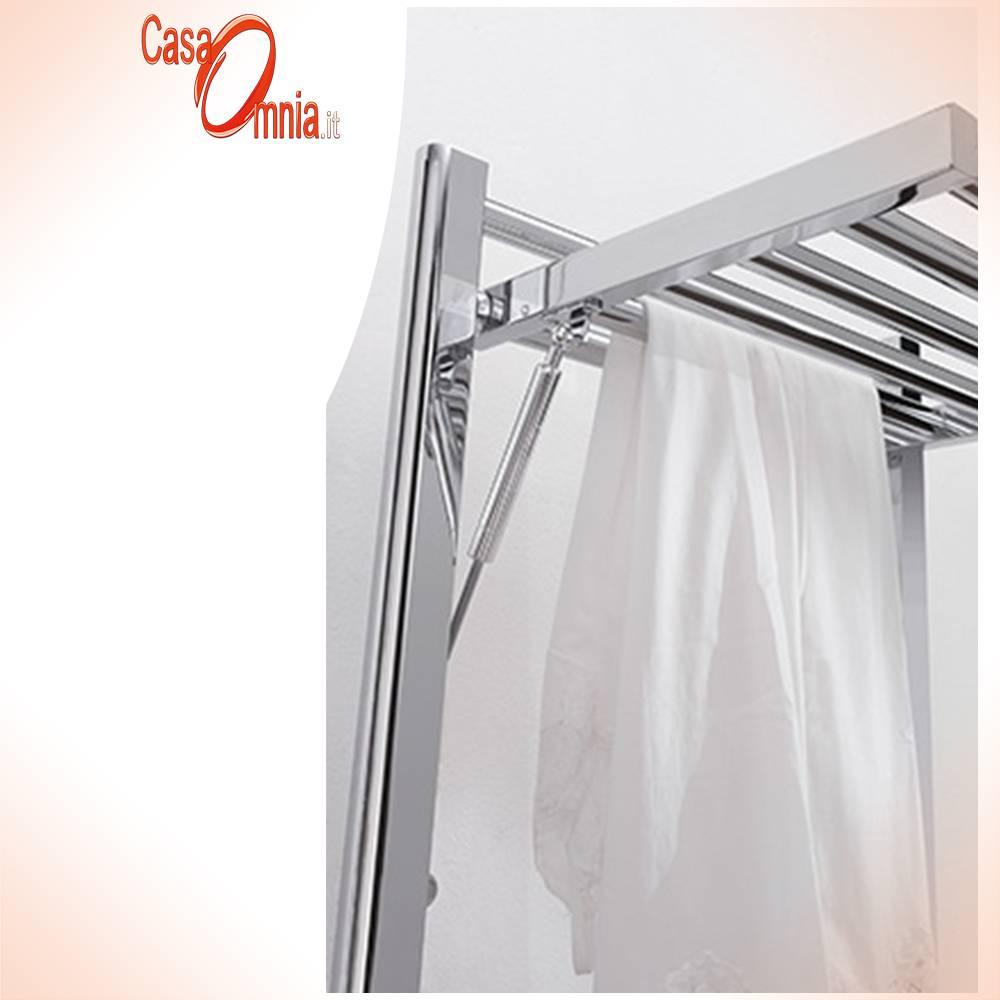 Deltacalor-Towel warmer-white-coloured-chrome-dryer-plus-electric-detail