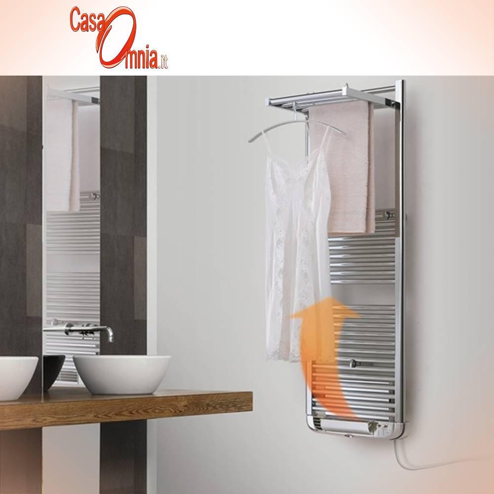 Deltacalor-Towel warmer-white-coloured-chrome-dryer-plus-electric
