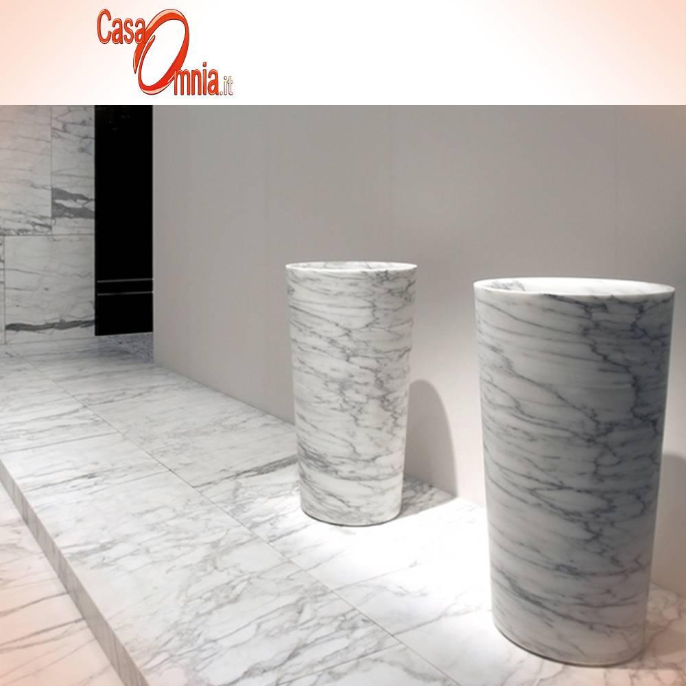 lavabo_in_pietra_in_arabescato_statuario_balde_colonna_Escavo