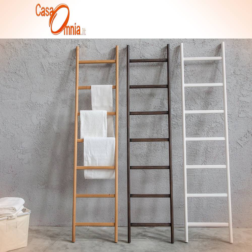 Scala portasciugamani in legno cipi 39 scala uilli casaomnia - Scala per bagno ...