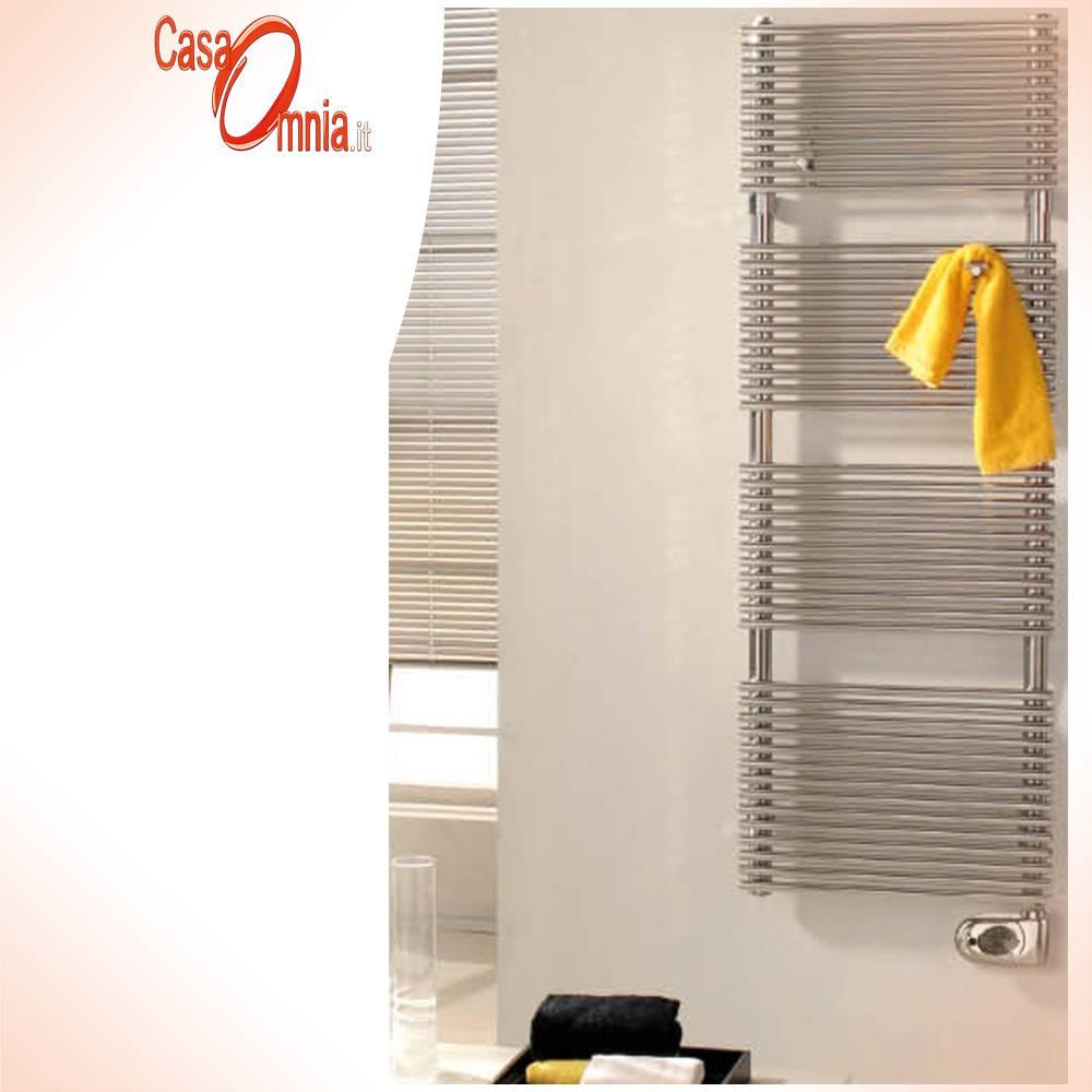 Sèche-serviette-Elttrico-en-inox-inox-poli-avec-thermostat-digital-cordivari-tubes-mince