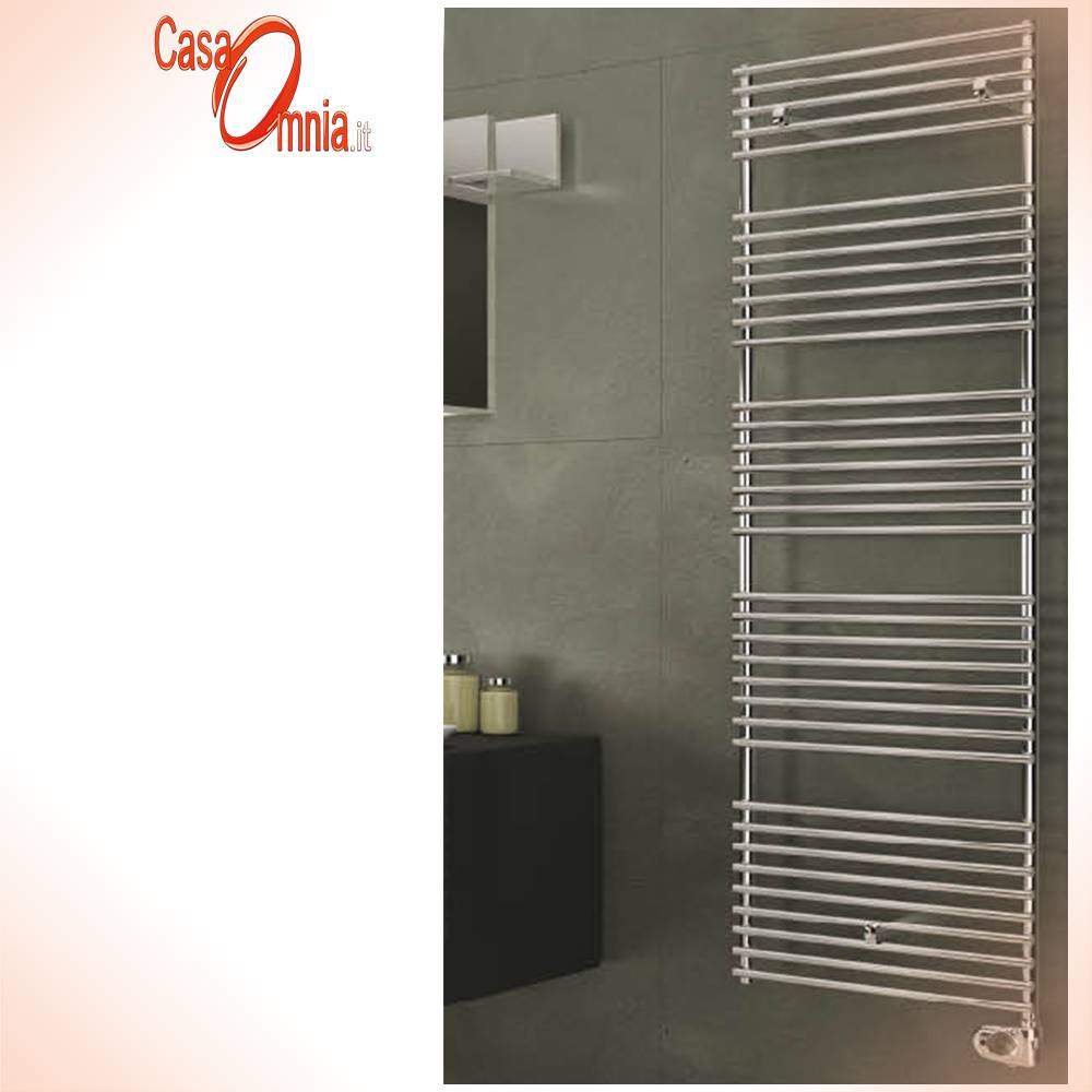 Towel Warmers-Elttrico-Leila-in-stainless-inox-polished-with-thermostat-digital-cordivari-tubes-thin