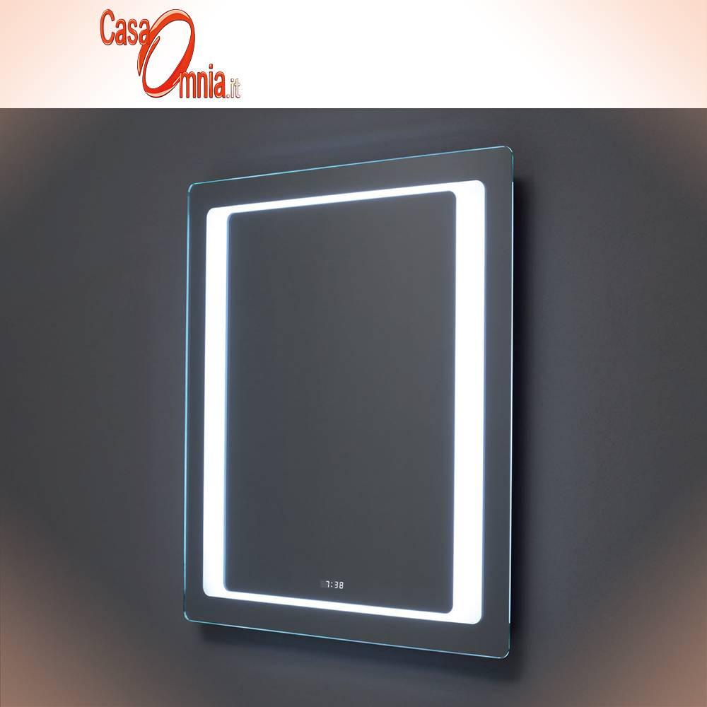 MIROIR SALLE DE BAIN LED - HORLOGE - BLUETOOTH - V&C AQUILA