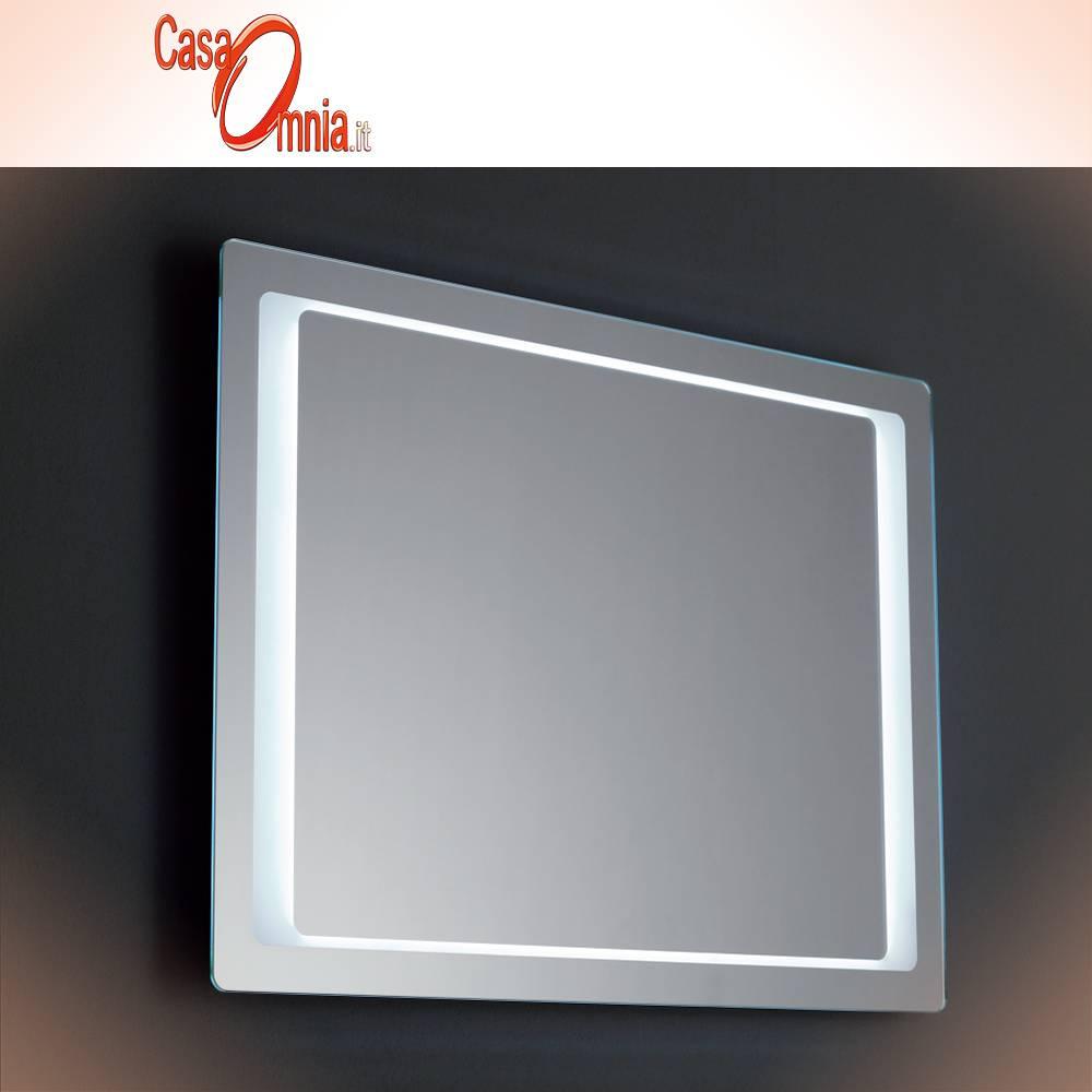 SPECCHIO BAGNO LED - OROLOGIO - BLUETOOTH - V&C AQUILA - CasaOmnia