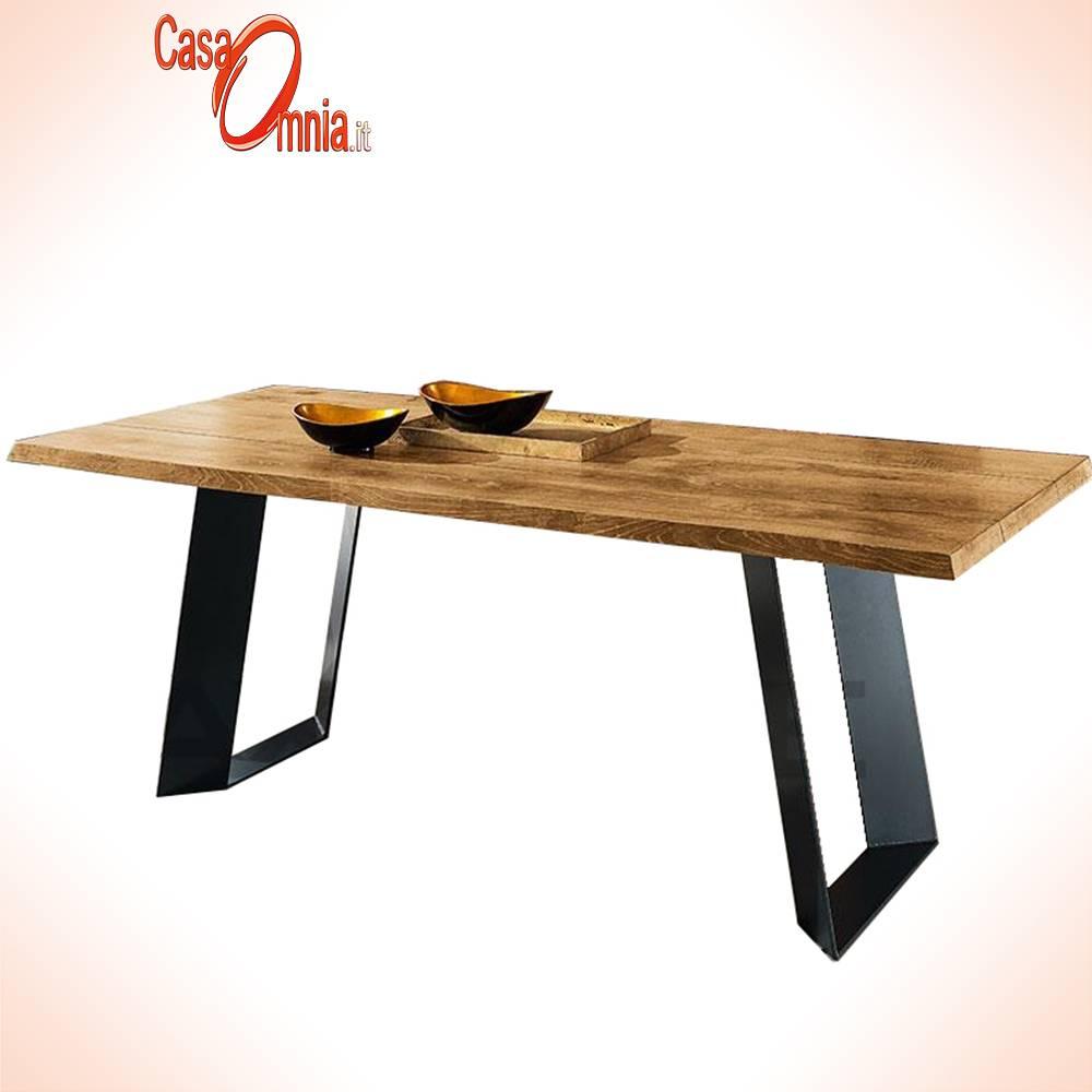 Tavolo Da Pranzo Allungabile Piano Legno.Tavolo Da Pranzo In Legno Terrah Casaomnia