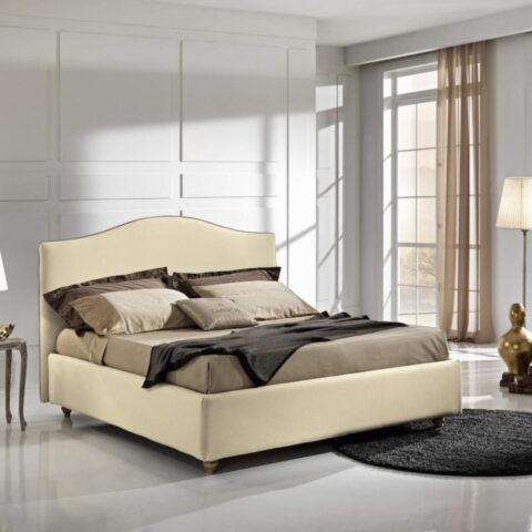 letto bellini max home beige ecopelle contenitore