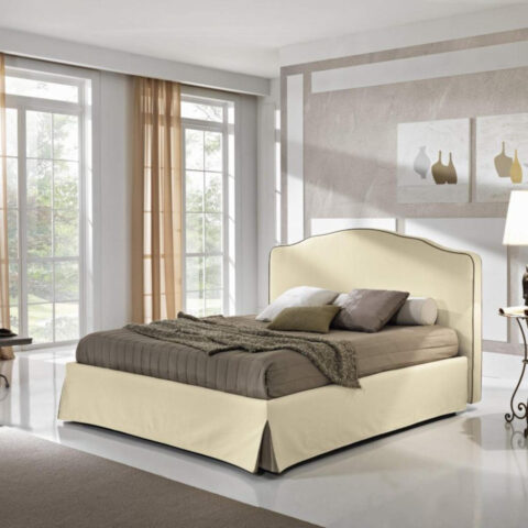 letto zumba max home beige teckno nabuk contenitore