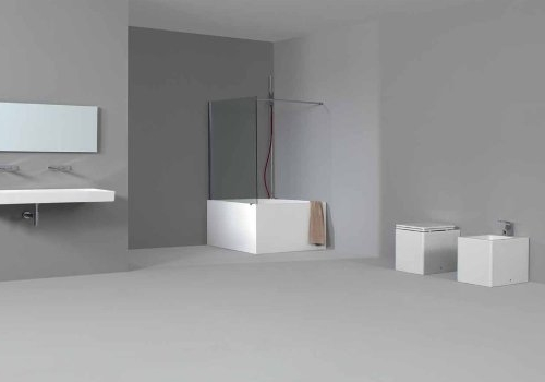 bathtub in pietra luce white colored with hand shower bathtub side nic design tub