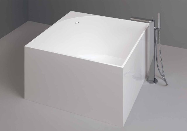 bathtub in pietra luce white or colored with hand shower freestanding or bathtub side nic design tub