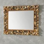 Specchio queen oro 95x95 eban x composizione tosca 116