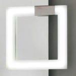 applique da specchio square a led cromo