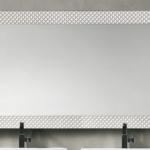 specchio swan 141 x 80.5 bianco perla con strass