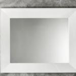specchio violetta 97x80 bianco lucido applique a muro mimosa snodo cromo con paralume alba organza argento