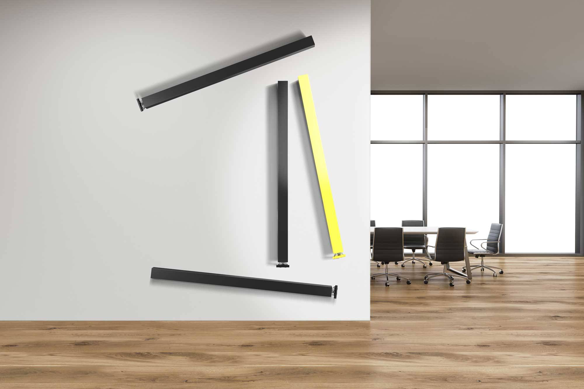 Termoarredo lazzarini ONETUBE_anthracite-and-yellow