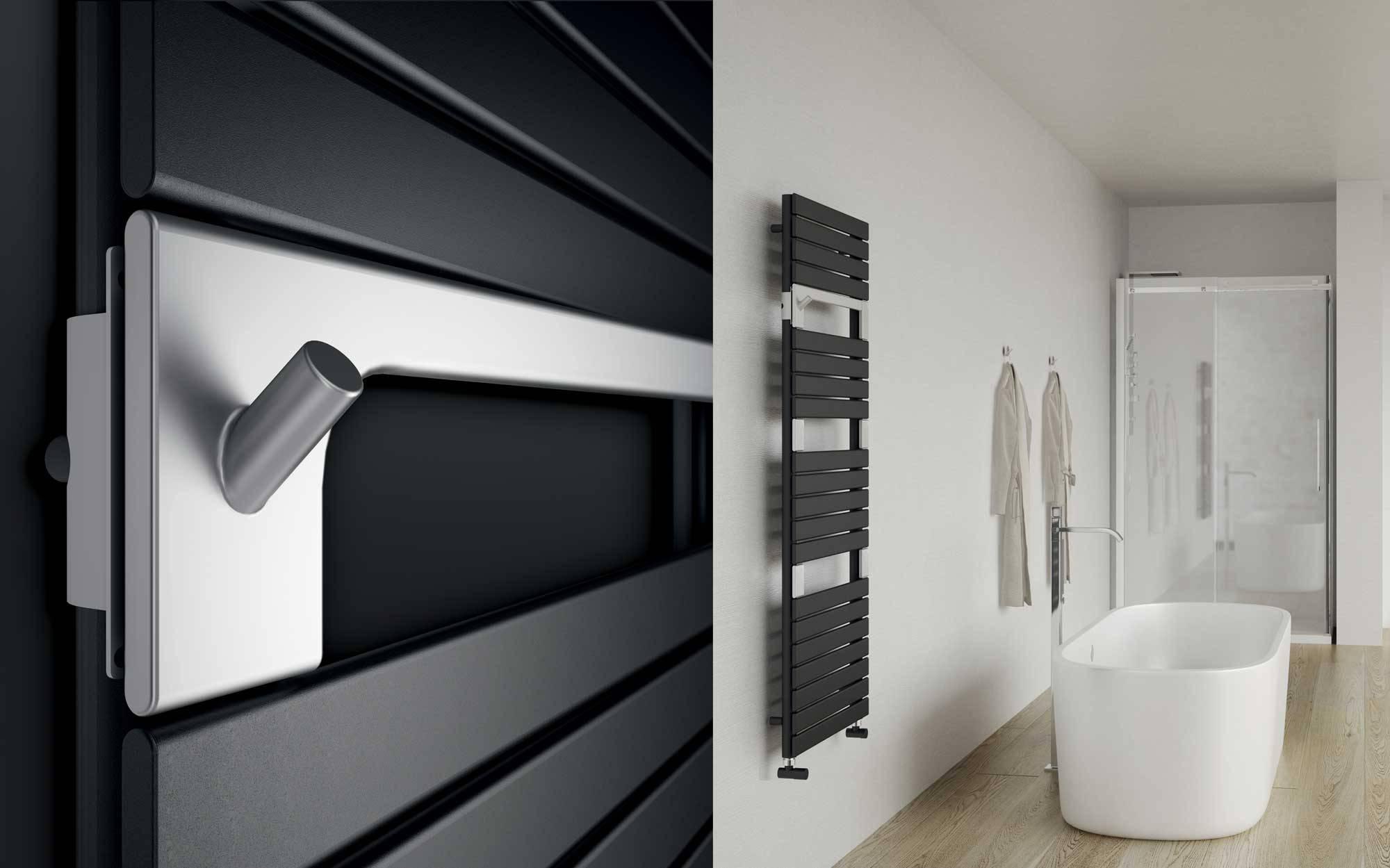 Sèche-serviettes Torino-anthracite-ambiance-bathroom-and-closeup