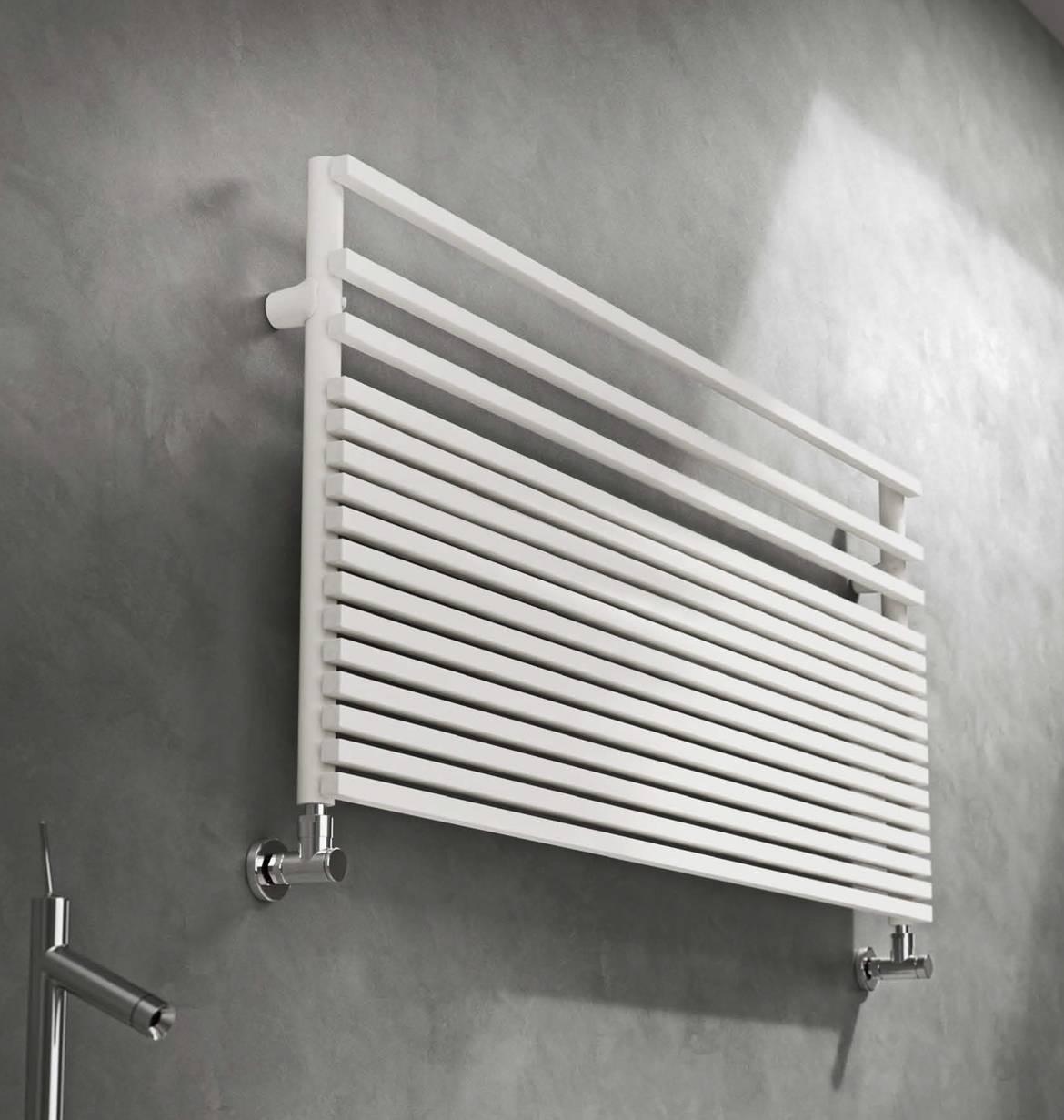 Seche Serviette de bain Graziano-modèle Infinity blanc horizontal