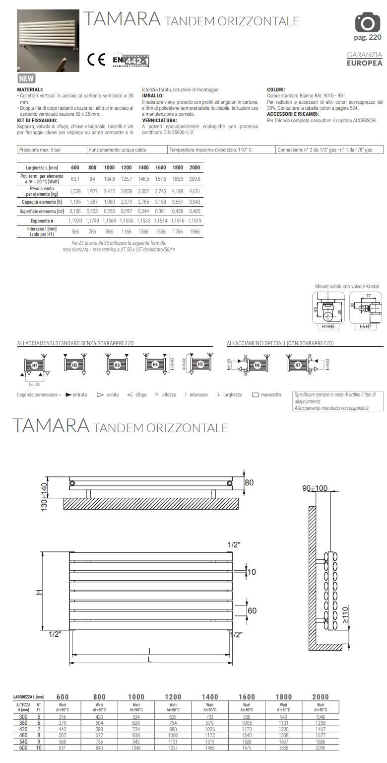 scheda-tecnica-termoarredo-tamara-tandem-orizzontale