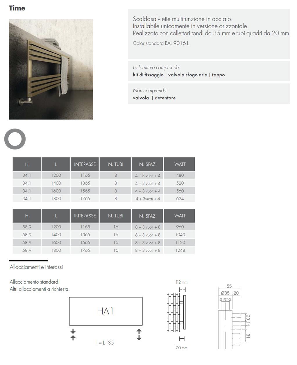 1scheda_tecnica_scaldasalviette_graziano_radiators_time