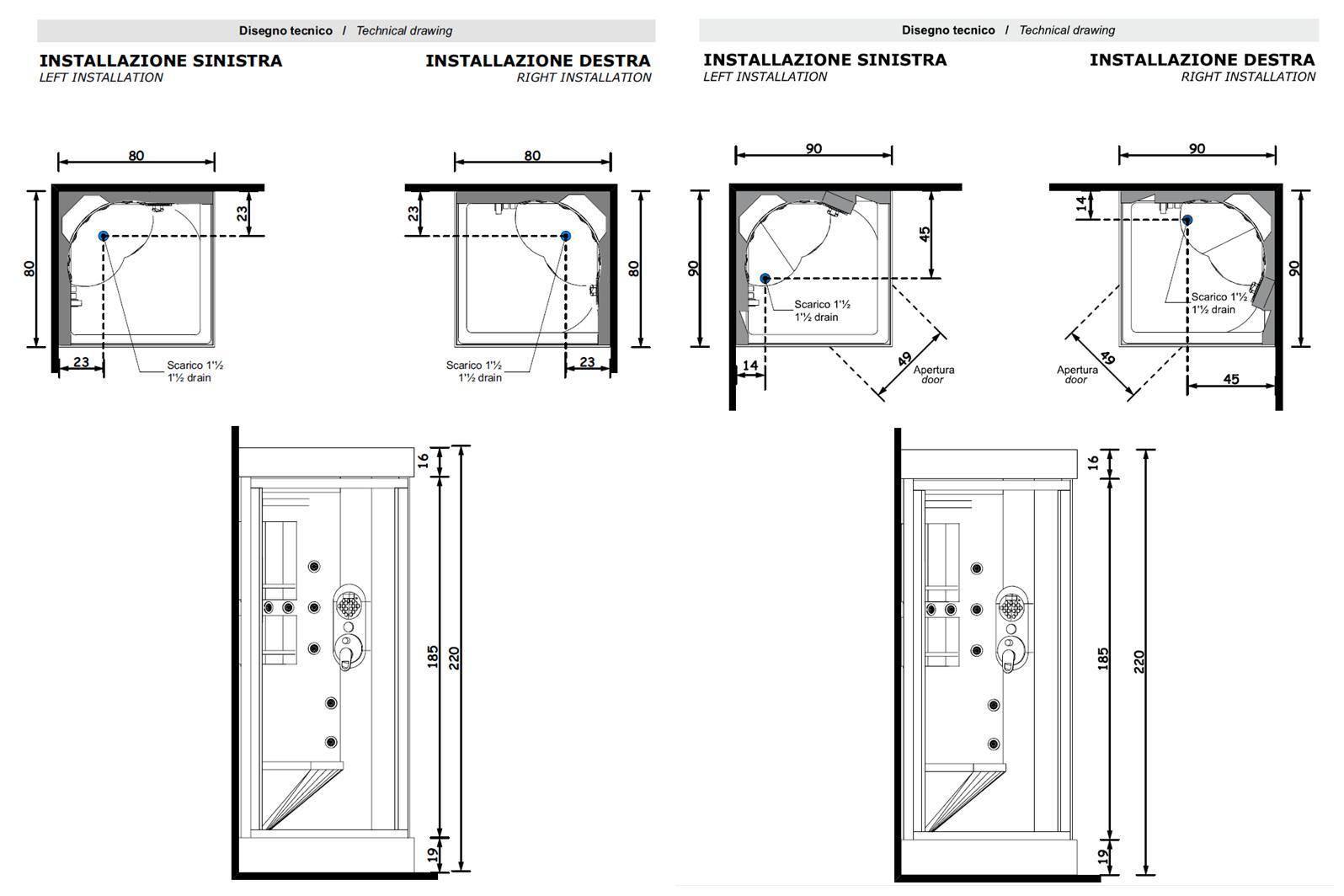 box_idromassaggio_80_x_80-90_x_90_acquazzurra_treesse_SCHEDE_TECNICHE