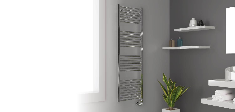 Electric towel rail chrome lisa 22 cordivari casaomnia for Cordivari claudia elettrico