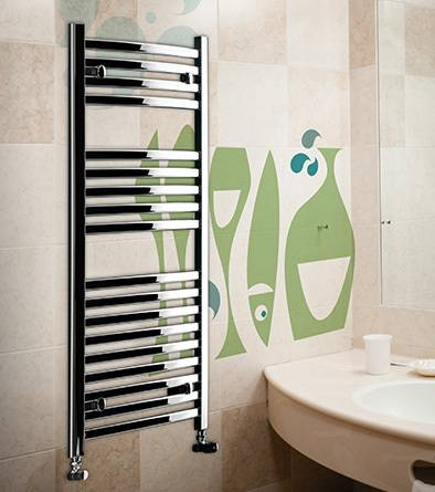 heated towel rail_merano_lazzarini_chrome