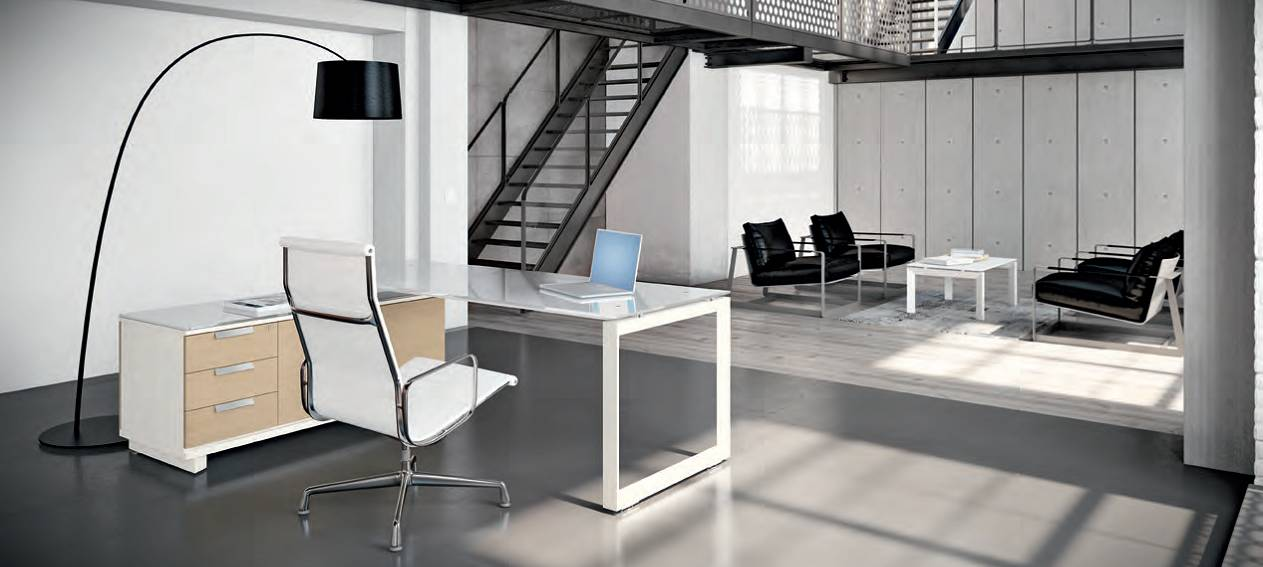 scriviania_tris_piano_vetro_con_contenitore_struttura_metallo_meco_office