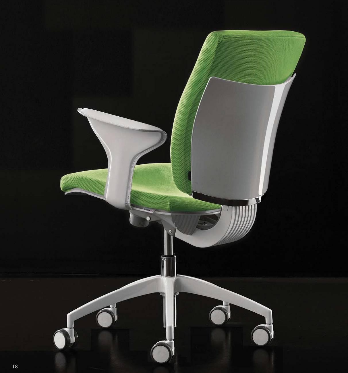 seduta_operativa_ufficio_ergonomica_struttura_bianca_seduta_verde_pixel_luxy