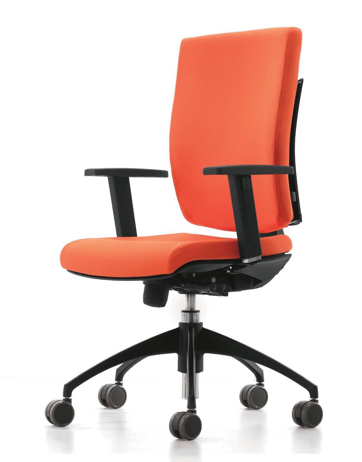 seduta_operativa_ufficio_ergonomica_struttura_nera_seduta_rossa_pixel_luxy