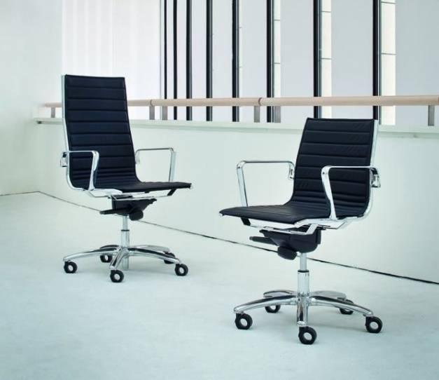 sedute_direzionali_luxy_serie_light_ergonomica_girevole_ufficio_altezza_regolabile_incrocio_orizzontale_imbottita_nero