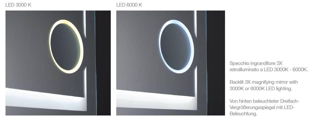 miroir_agrandisseur_3x_make_up_lumière_led_chaud_3000K_ou_froid_6000K