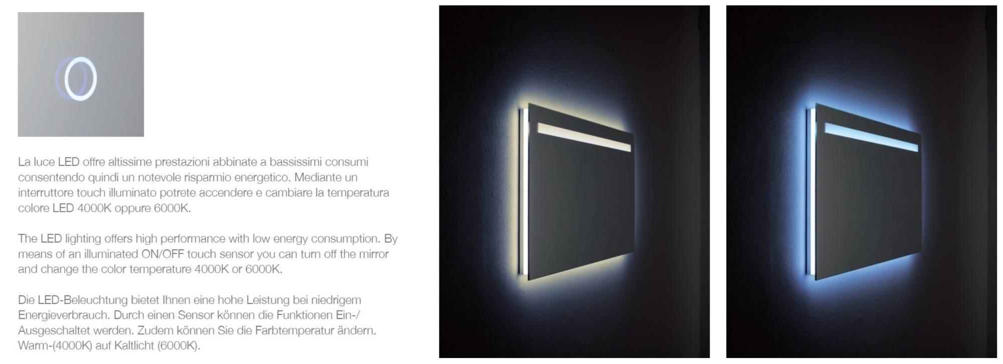 miroir_salle de bain_dorado_interrupteur_touch_screen_avec_changement de_température_led_4000K_6000K