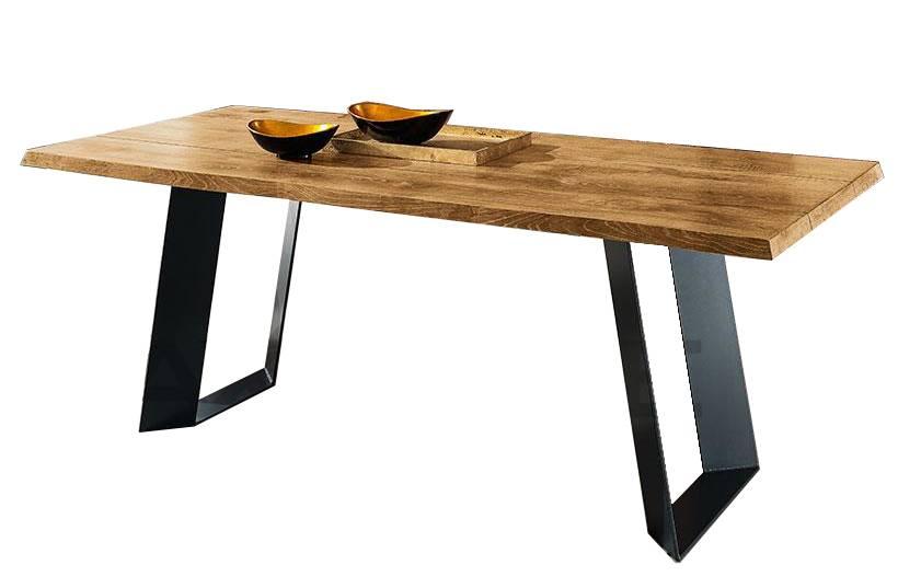 tavolo-da-pranzo-terrah-base-in-metallo-piano-legno-massello-rovere-nodato-naturale
