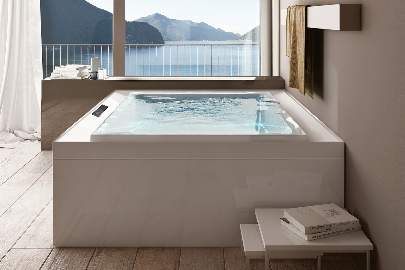 mini piscine extérieure treesse fusion spa 230 ghost system