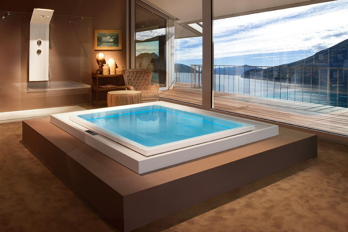mini piscina da interno treesse fusion spa 230 ghost system