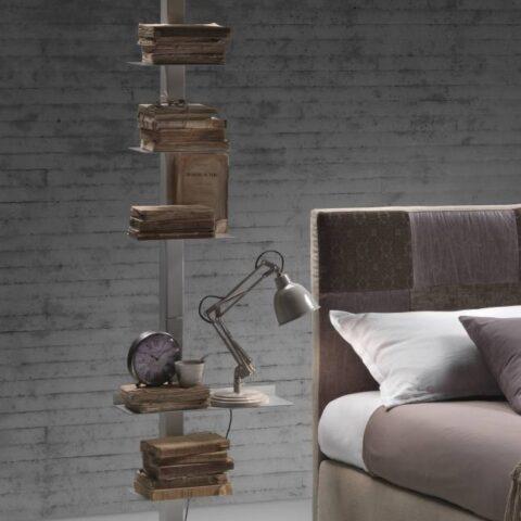 libreria in acciaio talia bed room siderio SIDERIOSTBW
