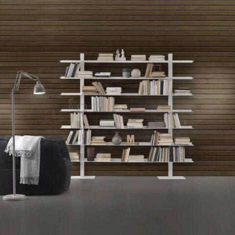steel bookcase zefiro II siderio SIDERIOSZ2W