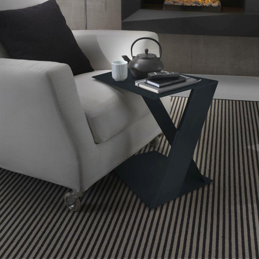 petite table en acier siderietto siderio Charcoal