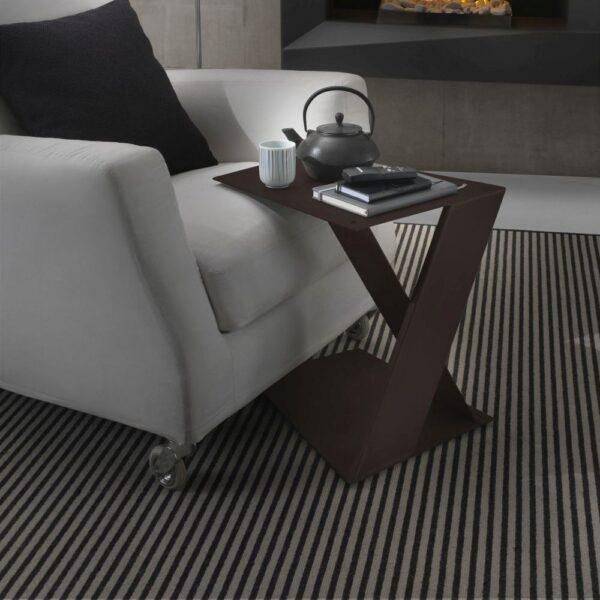 petite table en acier siderietto siderio Rouille