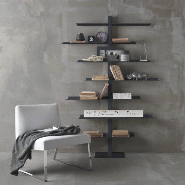 steel bookcase apollo siderio Charcoal