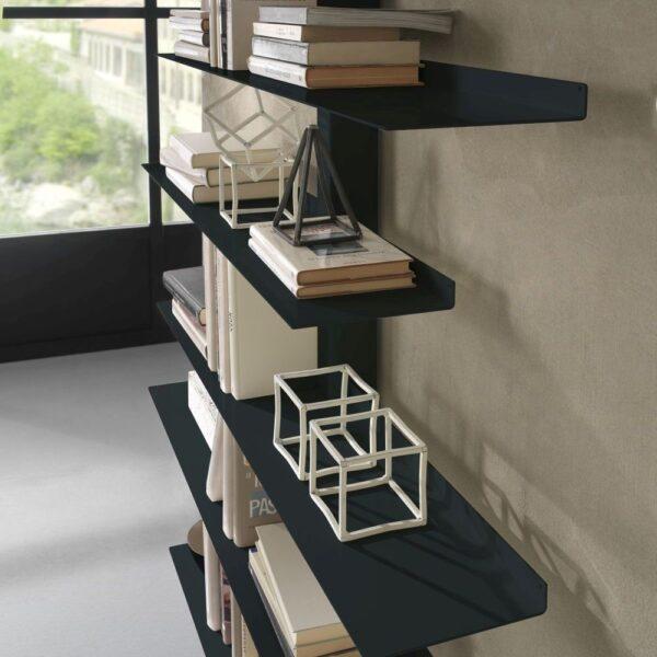steel bookcase apollo siderio Charcoal3