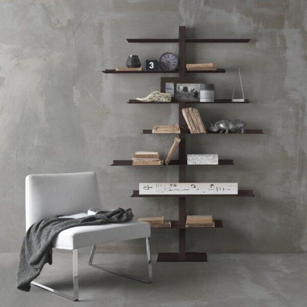 steel bookcase apollo siderio Rust