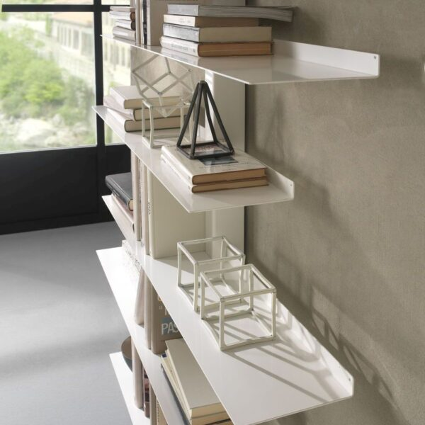 steel bookcase apollo siderio White3