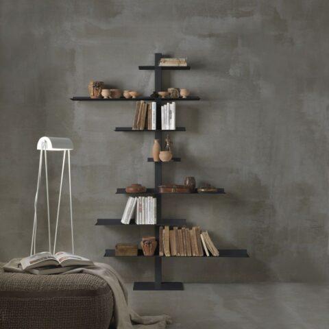 libreria in acciaio tiche siderio Charcoal