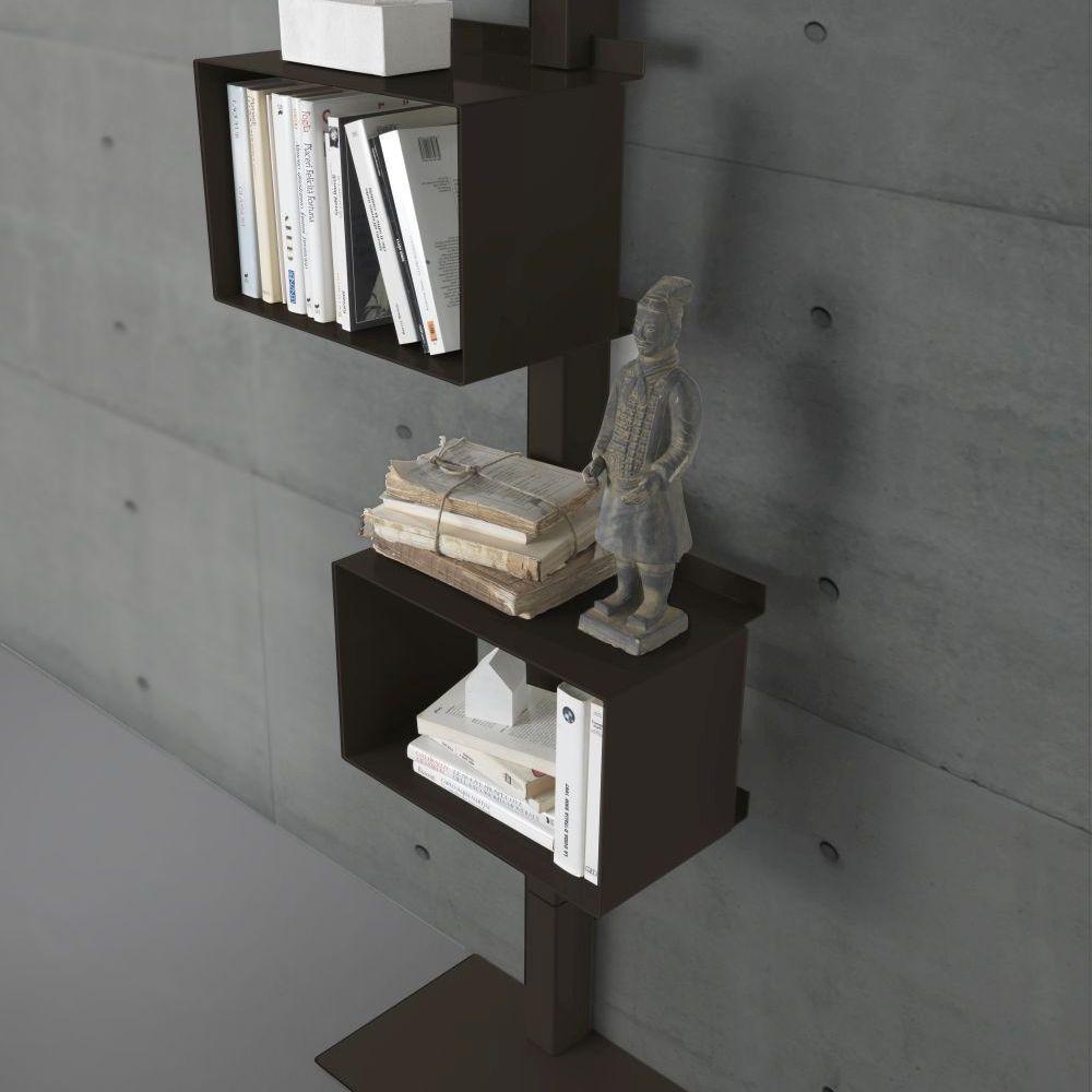 bibliothèque en acier rettangola siderio rouille