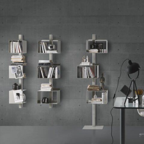 steel bookcase rettangola siderio White