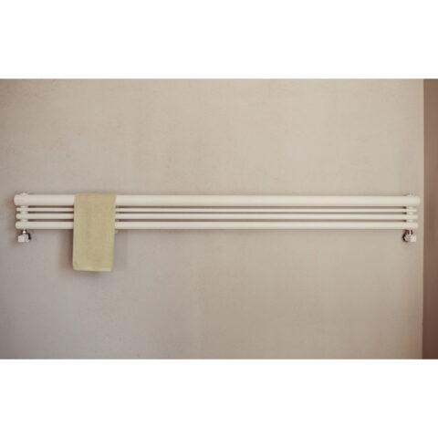 scaldasalviette orizzontale drappeggio o graziano radiators casaomnia