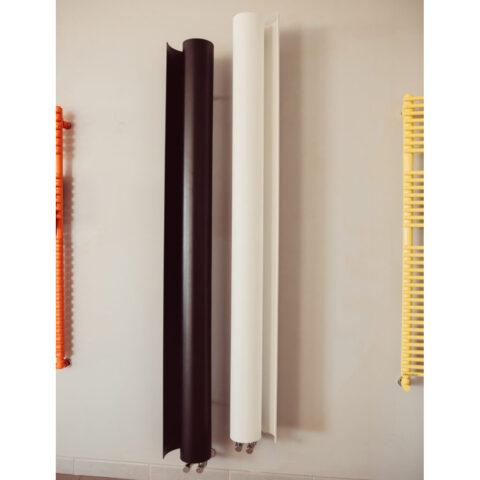 scaldasalviette verticale six bianco colorato six graziano radiators casaomnia