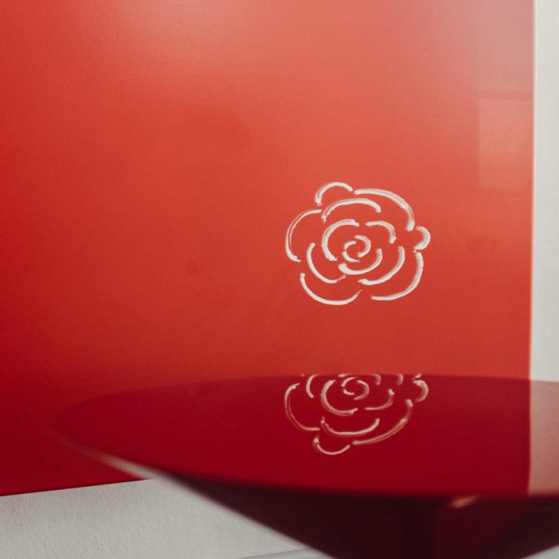 dettaglio termoarredo a piastra verticale collezione design graziano radiators daisy